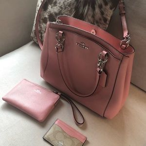 Like new coach bag and card holder.